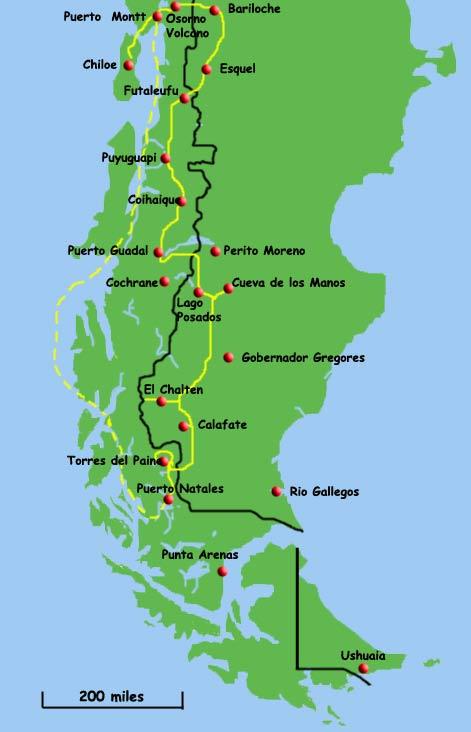 Perito Moreno Argentina - Argentina highway map